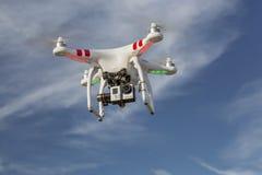 Inbillat quadcoptersurr för DJI Arkivbild