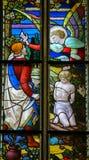 Inbinda av Isaac på monteringen Moriah av Abraham Arkivbild