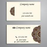 Inbjudan, affärskort eller baner med textmallen Rund fl Royaltyfria Bilder