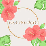 Inbjudan- eller bröllopkort med ljus bakgrund royaltyfri illustrationer