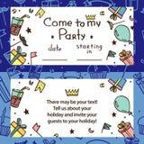 Inbjudan för barns parti vektor illustrationer