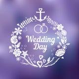 Inbjudan för bröllopdag Royaltyfri Illustrationer