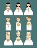 Inbjudan för bröllopkort i vektor Fotografering för Bildbyråer