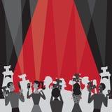 Inbjudan för deltagare för Hollywood filmutmärkelse vektor illustrationer