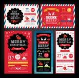 Inbjudan för julparti extra ferie för kortformat vektor illustrationer