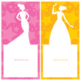 Inbjudan för prinsessafödelsedagkort Royaltyfri Fotografi