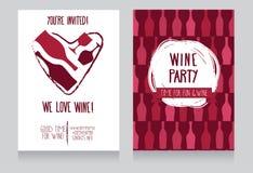 Inbjudan för vinparti Royaltyfri Bild