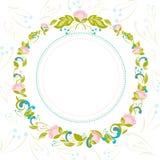 Inbjudan med abstrakt blom- bakgrund Arkivfoton