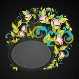 Inbjudan med abstrakt blom- bakgrund Royaltyfri Foto