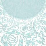 Inbjudan med abstrakt blom- bakgrund Royaltyfria Foton