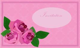 Inbjudan med rosor Royaltyfri Foto