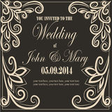 inbjudan till bröllop Royaltyfria Foton