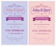 inbjudan till bröllop Arkivbild