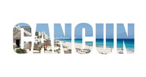Inbjudan till Cancun Arkivbild