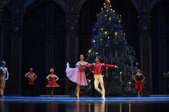 Inbjudan till dansen det andra för fältgodis för handling i andra hand kungariket - balettnötknäpparen Arkivfoto