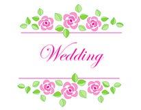 inbjudanbröllop Royaltyfri Fotografi