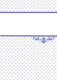 Inbjudankort med blåa punkter Royaltyfria Bilder