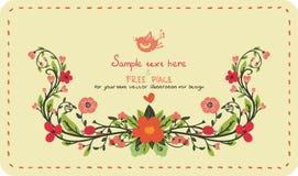 Inbjudankort med blommor Arkivfoto
