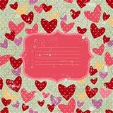 Inbjudankort med hjärta och grå färgbakgrund Royaltyfria Foton