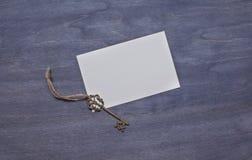 Inbjudankort med tangent Arkivfoton