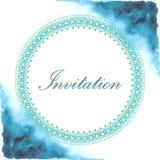 Inbjudankort med vattenfärgbakgrund Royaltyfria Bilder