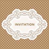 Inbjudankort. Tappningbakgrund med stället för Royaltyfri Fotografi