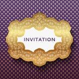 Inbjudankort. Tappningbakgrund med stället för Royaltyfri Foto