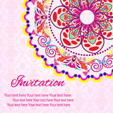 InbjudanMandalakort Vektor Illustrationer