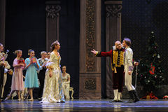 Inbjudet prinsen som hem kommer till dans-balettnötknäpparen Arkivfoton