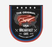 Inbjudnings- teckenbräde för vektor för kafé i presidentdagstil stock illustrationer