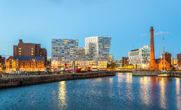 Inblikkend Dok, de Haven van Liverpool royalty-vrije stock afbeeldingen