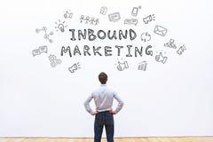 Inbound marketing. Business concept on white Stock Photo
