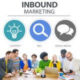 Inbound Marketing Commerce Content Social Media Concept vector illustration