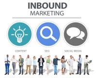Inbound Marketing Commerce Content Social Media Concept stock illustration
