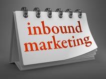 Inbound Marketing Concept on Desktop Calendar. Stock Image