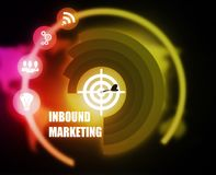 Inbound Marketing concept plan graphic. Concept plan graphic background color advice Stock Photography