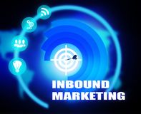 Inbound Marketing concept plan graphic. Background Royalty Free Stock Photos