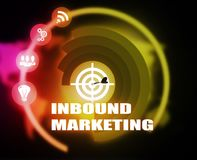 Inbound Marketing concept plan graphic. Background Royalty Free Stock Image