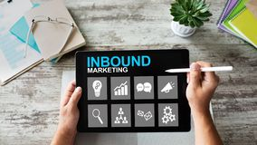 Free Inbound Marketing. Content Management And Advertising Strategy Concept. Royalty Free Stock Photo - 130843125