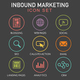 Inbound Marketing Graphic Icons stock illustration