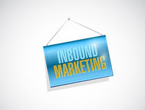 inbound marketing hanging sign illustration Royalty Free Stock Images