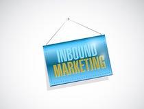 inbound marketing hanging sign illustration Royalty Free Stock Images