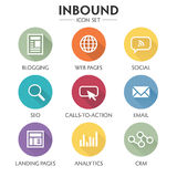 Inbound Marketing Icon Set vector illustration