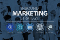 Inbound Marketing Marketing Strategy Commerce Online Concept royalty free stock photography