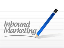 Inbound marketing message illustration design Stock Image