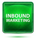 Inbound Marketing Neon Light Green Square Button royalty free illustration