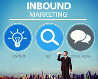 Inbound Marketing Strategy Advertisement Commercial Branding Con. Cept Stock Images