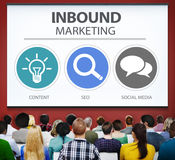 Inbound Marketing Strategy Advertisement Commercial Branding Con Stock Image