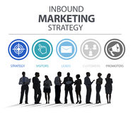 Inbound Marketing Strategy Advertisement Commercial Branding. Concept Royalty Free Stock Photos