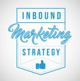 Inbound marketing strategy sign stamp seal illustration design. Isolared over a white background Stock Photos